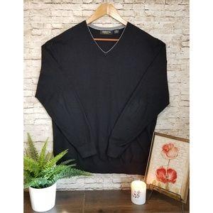Claiborne Thermolite V-Neck Black Sweater